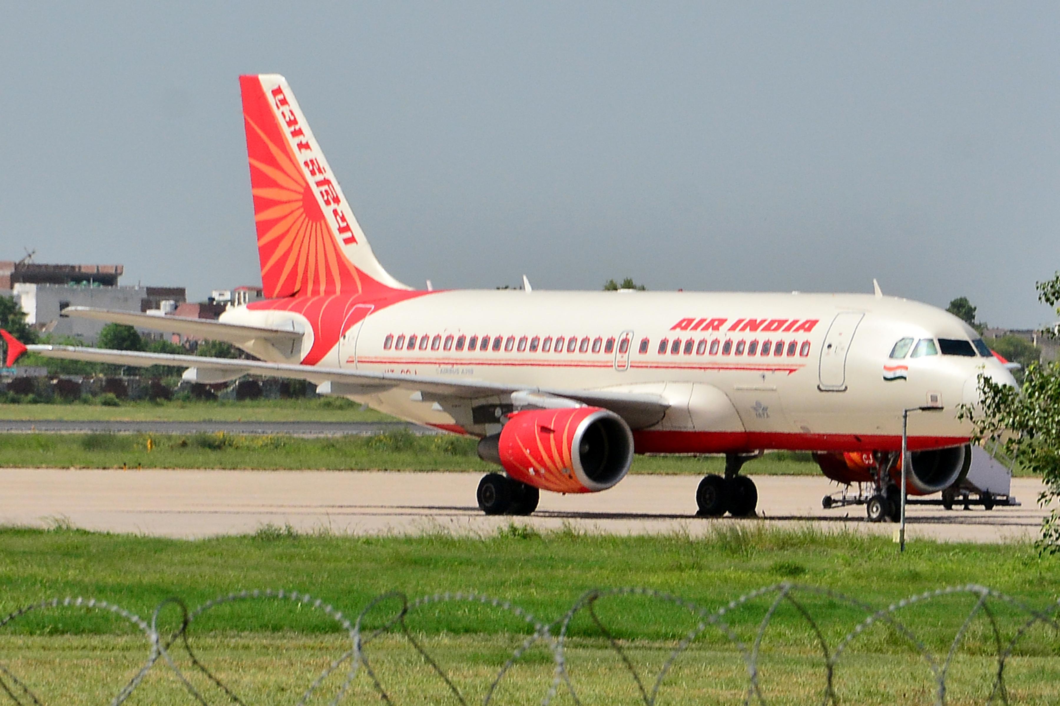 Air india flight from dubai to india