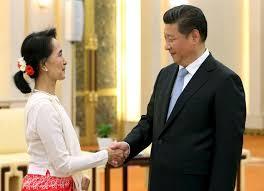 Suu kyi in China