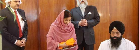 Swaraj Gurudwara visit