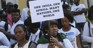 African students protest