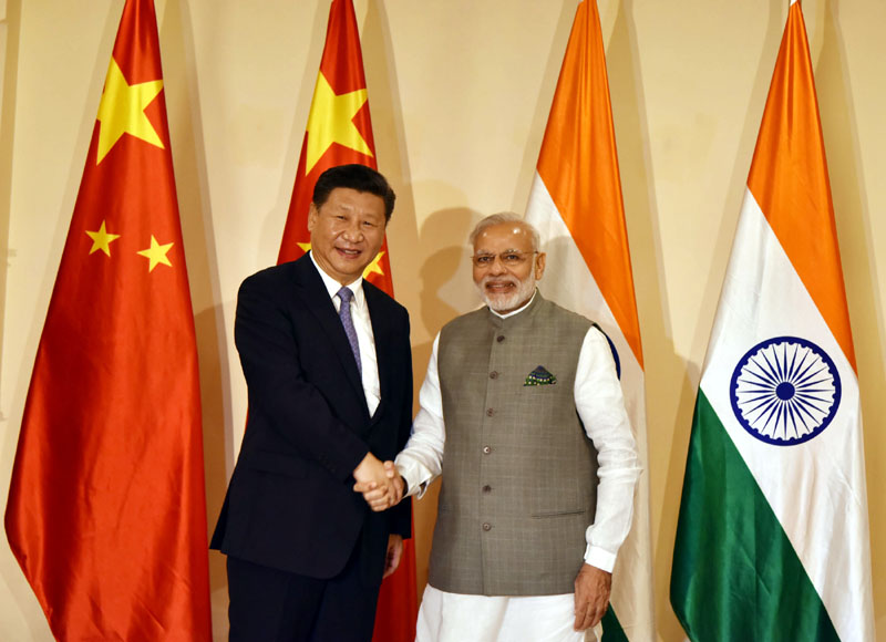 BRICS-2016 Goa Mr. Modi with Xi Jinping