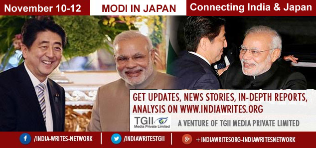 Indian Prime Minister in Japan from November 10-12