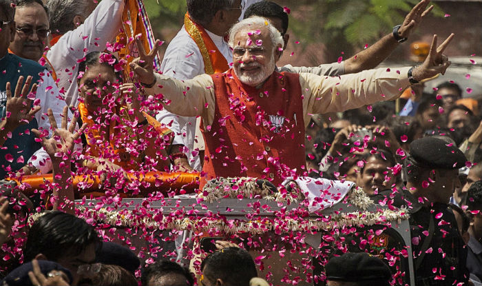 In a spectacular saffron sweep, the Bharatiya Janata Party is heading for a landslide victory in assembly elections in Uttar Pradesh, India's largest state and the epicentre of the country's politics.