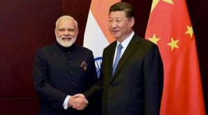 Astana: Prime Minister Narendra Modi and Chinese President Xi Jinping on the sidelines of the SCO Summit in Astana, Kazakhstan on Friday. PTI Photo (PTI6_9_2017_000052B)