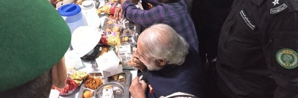 Modi with Indian  workers