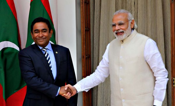 Yameen and Indian Prime Minister Modi