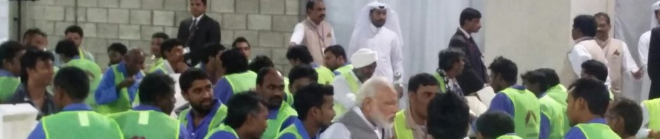 PM Modi-Qatar workers