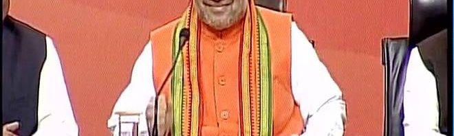 Basking in the glory of astounding electoral victory in India's largest state of Uttar Pradesh, the head of India's Hindu nationalist Bharatiya Janata Party Amit